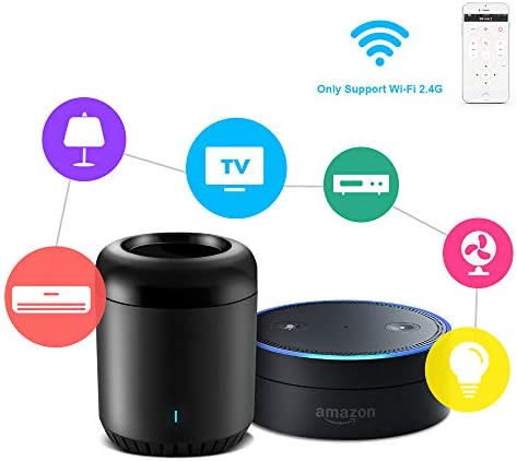 broadlink IR Control Hub Works with Amazon Alexa, RM Mini3 Smart Home Wi-Fi Enabled Infrared Universal Remote Control, One for All Control (Black Bean RMMINI3-EN) 4