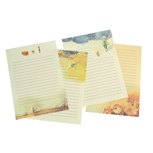 Design Stationery (IMagicoo 64 Vintage Retro Cute Design Writing Stationery Paper Pad Letter Set, 4 Different Style (Style-2))