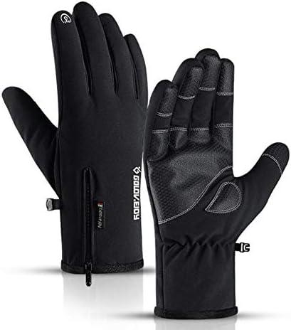 冬のサイクリンググローブ、男性用および女性用ジッパータッチスクリーン、防水および防風、サイクリングクライミングキャンプキャンプガーデニングオートバイの仕事(M/L/XL)
