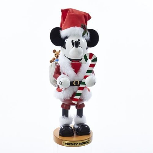 Steinbach 14-Inch Mickey Mouse Nutcracker In Santa Claus Outfit