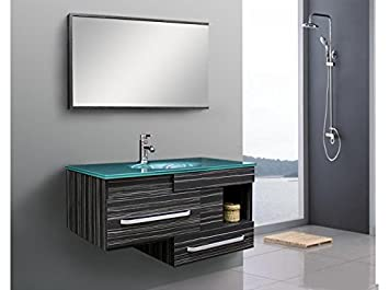 Amazon De Badezimmermobel Modern Spiegel Glaswaschtisch Spezialglas