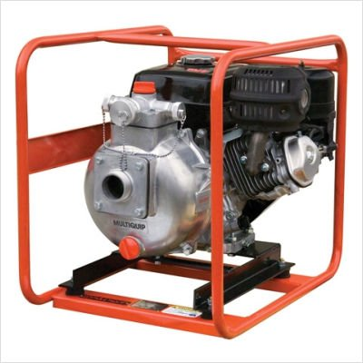 Multiquip Qp205slt High Pressure Centrifugal Pump With Honda Motor  8 Hp  126 Gpm  3  Suction  1  1 2  Discharge   2  1  Discharge