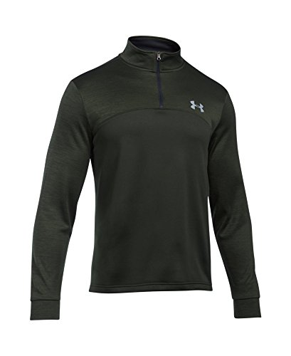Under Armour Men's Storm Armour Fleece 1/4 Zip, Artillery Green (357)/Steel, Small by Under Armour (Image #3)