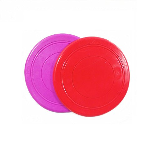 Floppy Disk Halloween Costume (Geekercity 2 Pack Soft Pet Toy Dog Silicone Frisbee Flying Disc Tooth Resistant Outdoor Dog Training (Red + Purple))
