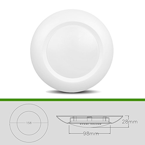 JULLISON 6 Packs 4 Inch LED Low Profile Recessed & Surface Mount Disk Light, Round, 10W, 600 Lumens, 3000K Warm White, CRI80, DOB Design, Dimmable, Energy Star, ETL Listed, White … by JULLISON (Image #2)