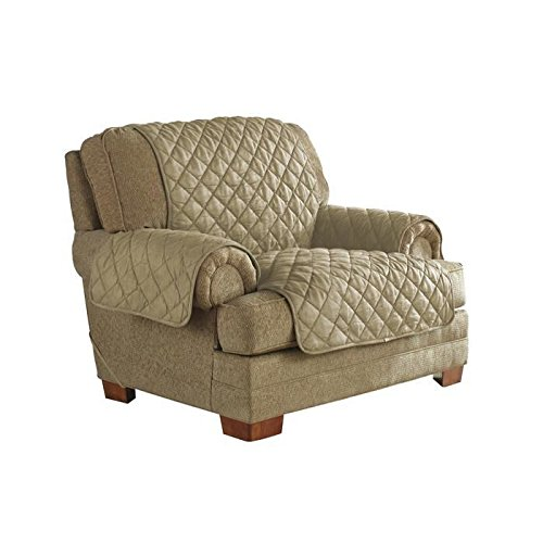 Polyester Suede Chair (Serta Ultra Microsuede Diamond Quilted Waterproof Furniture Protector with Anchor Band System)