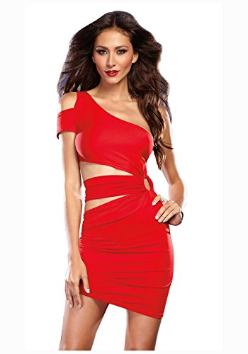Dreamgirl Women's Sexy Asymmetrical Jersey Club Dress