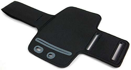 DURAGADGET Exclusive Unisex Sports Armband in Black - Running, Cycling & Gym Smartphone Case / Cover / Holder - Compatible with Archos 50 Helium 4G