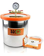 BACOENG Acrylic Lid Stainless Steel Vacuum Chamber for Degassing Urethanes, Resins, Silicones and Epoxies