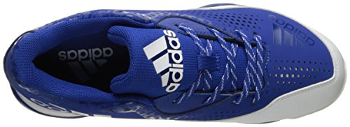Adidas Original Donna Freak X Carbon Mid Softball Scarpa Collegiate Royal / Bianca / Argento Metallizzata