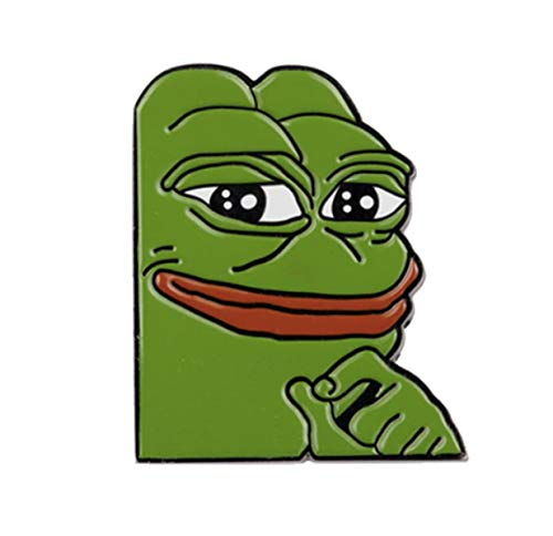 Used, Smug Pepe Meme Enamel Pin for sale  Delivered anywhere in USA