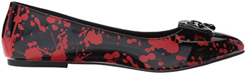 Funtasma Womens Vail20bl/Br Pointed Toe Flat Black Patent/Red 64hC1aX