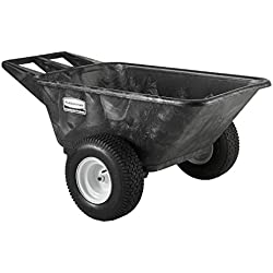 Rubbermaid Commercial Heavy Duty Big Wheel Cart, 700 lbs. Capacity, Black, FG564210BLA