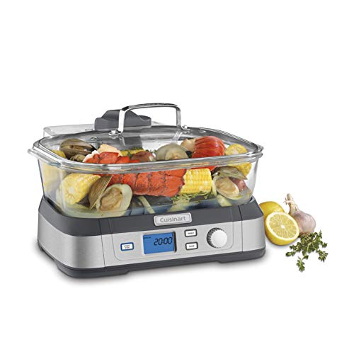 Steamer Insert Cuisinart - Cuisinart STM-1000 Digital Glass Steamer, Stainless Steel