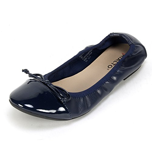 Rialto 'SUNNYSIDE' Women's Flat, Navy Patent - 8.5 M