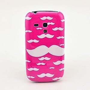 HC- Caso de la cubierta rosada del bigote trasero duro para el Samsung Galaxy S3 I8190 Mini