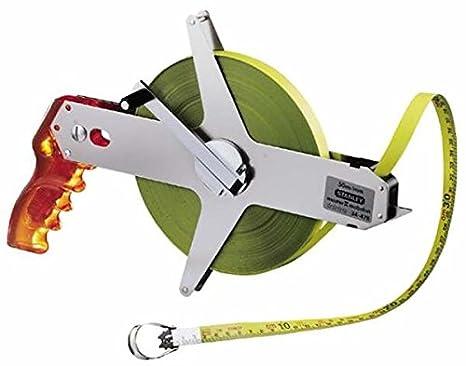 Stanley Rahmenbandma/ß Master II Stahl 50 m L/änge, unempfindlich, 1 mm Markierung, mit Fixhaken 1-34-478