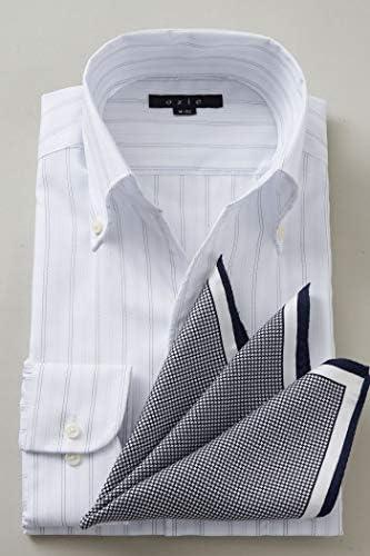 【メンズ・ワイシャツ・カッターシャツ】スリム・長袖・イタリアンカラー・スキッパー・ボタンダウン・クールマックス