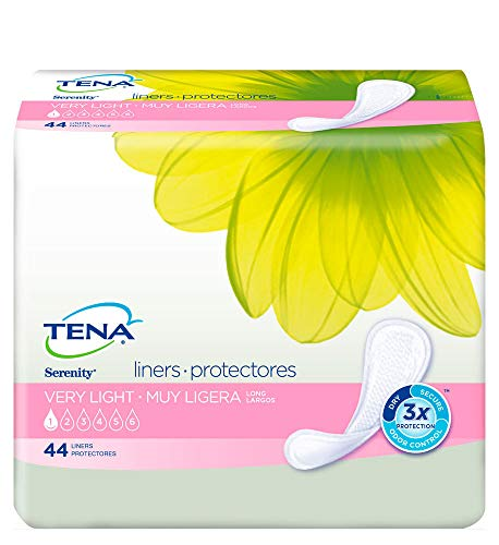 - TENA Incontinence Liners for Women, Long, 44 Count