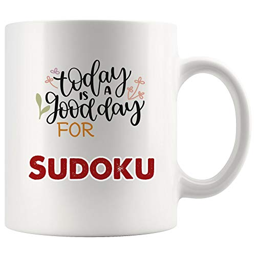 - Today Is Good Day for Sudoku Mug Coffee Cup Tea Mugs Gift | Gift Birthday Gift for Kid Children Kakuro Game crossword puzzle children Funny Lover Men Women Kids Sayings Travel
