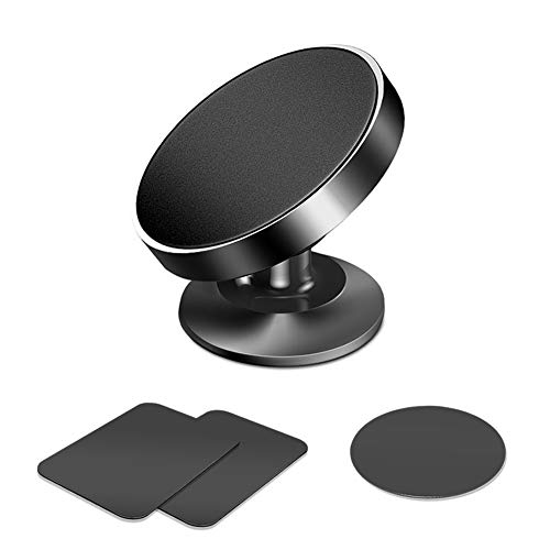 Magnetic Phone Car Mount, 360° Rotation Car Phone Dashboard Universal Magnet Car Phone Mount Cradle Compatible iPhone Xs Max XR X 8 7 Plus, Samsung Galaxy Note9 S10 S9 S8 Plus etc