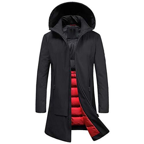 Amazon.com: Mens Long Down Jacket Youth Fashion Casual ...
