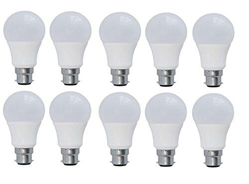 SYSKA 7-Watts B22 LED Cool Day Light Bulb, Pack of 10