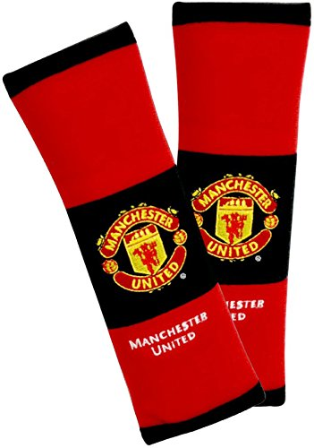 Trim Manchester - 2 X Seat Belt Cover Shoulder Pads Covers Cushion Manchester United Fc Red Devil Logo
