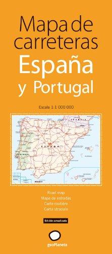 Mapa de carreteras de España y Portugal Mapas desplegables: Amazon ...