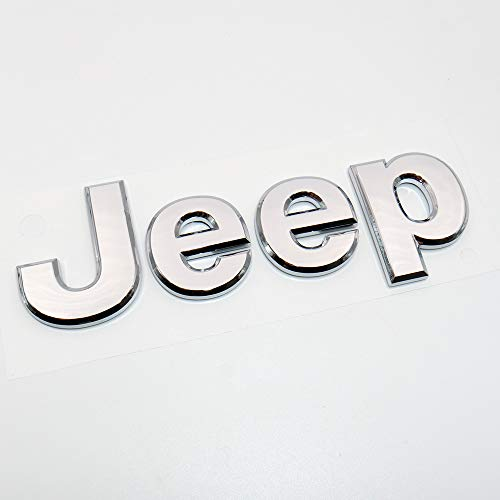 - US85 Direct 3D Jeep OEM ABS Grand Cherokee Front Hood Adhesive Emblem Logo Badge Modified Replacement (Chrome)