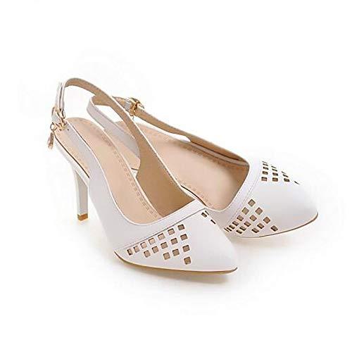 QOIQNLSN Zapatos De Mujer PU (Poliuretano) Comodidad Verano Tacones Stiletto Talón Blanco/Negro / Rojo White