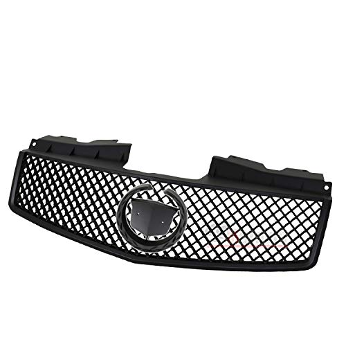 - Fit 2003-2007 Cadillac CTS Crossweave ABS Front Bumper Mesh Grill Grille Black