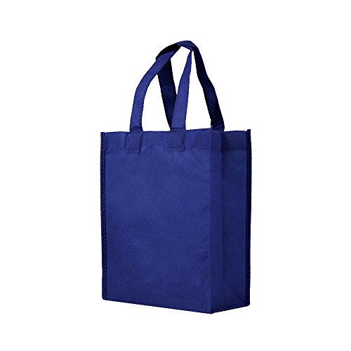 Reusable Gift/Party/Lunch Tote Bags - 25 Pack - Navy Blue ()