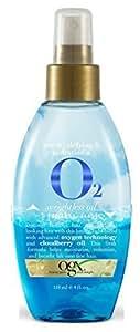 Organix Gravity-Defying & Hydration Plus Oxygen Weightless Oil Lifting Tonic, 4 Fluid Ounce by Organix