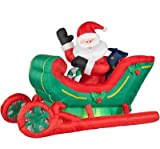 Airblown Inflatable Santa in a Deluxe Sleigh
