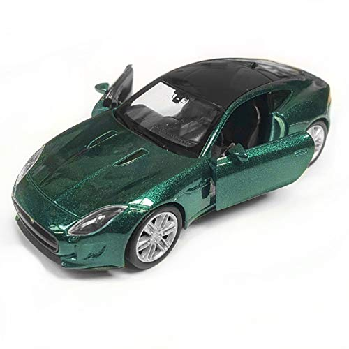 Welly Die Cast British Racing Green Jaguar F-Type Coupe Model Toy Car