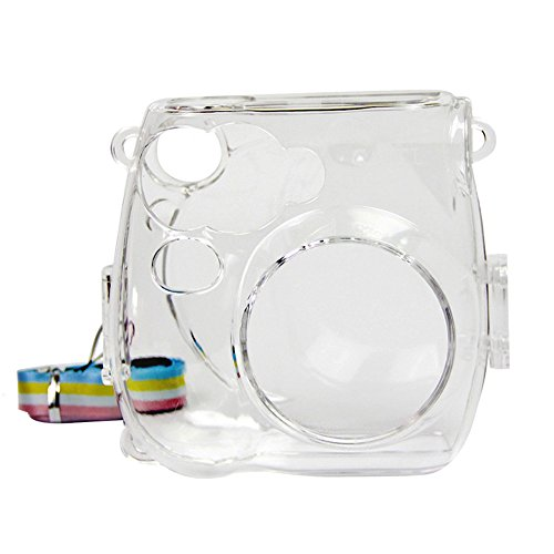 Insho Crystal Camera Case with Shoulder Strap for Fujifilm Instax Mini 7s Instant Camera - Clear