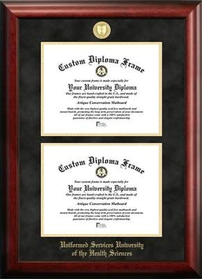 Uniformed Services University of the Health Sciences Double Degree Diploma Frame