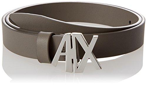 A X Armani Exchange Women's AX Buckle Belt, taupe, m (Ax Men Belt)