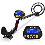 """Metal Detector - High-Accuracy Metal Finder with LCD Display, Discrimination Mode, Distinctive Audio Prompt, 10"""" Waterproof Search Coil for Underwater Metal Detecting, Metal Detector with P/P Function"""