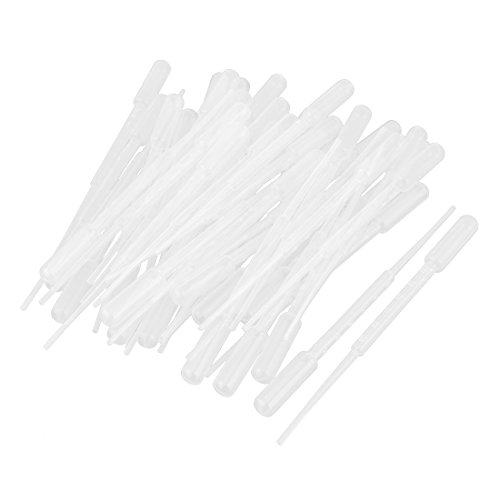 uxcell Disposable Extended Fine Tip Transfer Pipets Pipettes 3ML 100 ()