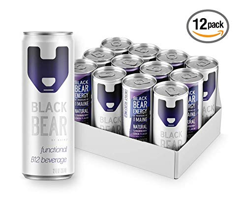 Black Bear Energy, Energy Drink, 12 OZ CANS (12 PACK) VITAMIN B12 FUNCTIONAL BEVERAGE