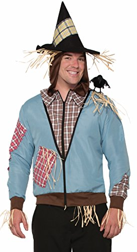Easy Wizard Of Oz Costumes (Forum Novelties 78176 Scarecrow Hoodie, Multicolor)