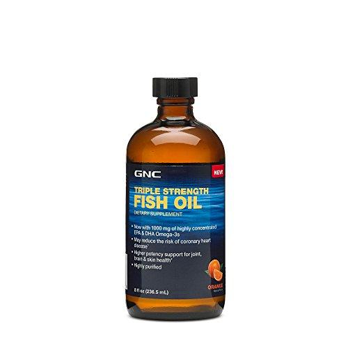 GNC Triple Strength Fish Oil Orange 8 oz