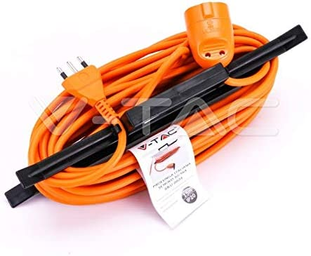 V-TAC - Cable alargador de jardín (enchufe y toma alemana, 16 A ...