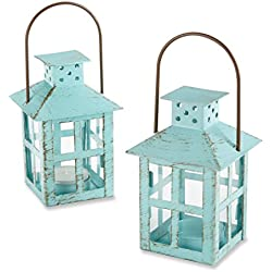 Kate Aspen Vintage Lantern Bundle of 12 Set, Blue