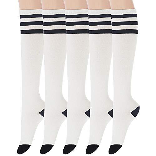 Sockstheway Womens Casual Knee High Tube Socks with