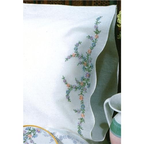 "Tobin Stamped for Embroidery Pillowcase Pair 20""X30""-Reflections"
