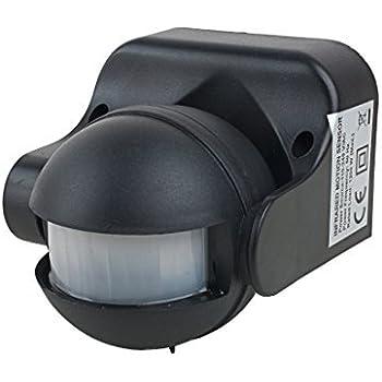 eDealMax Detector infrarrojo del Sensor de movimiento del Cuerpo Detector de CA 110V-240V al aire Libre Seguridad Humana interruptor automático de LED del ...