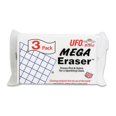 UFO 993-0060 PE White Eraser Sponges - Case of 180 (Eraser Ufo)